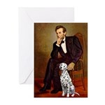 Lincoln / Dalmatian #1 Greeting Cards (Pk of 10)