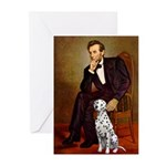 Lincoln / Dalmatian #1 Greeting Cards (Pk of 20)