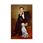 Lincoln / Dalmatian #1 Sticker (Rectangle)