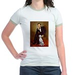 Lincoln / Dalmatian #1 Jr. Ringer T-Shirt