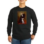 Lincoln / Dalmatian #1 Long Sleeve Dark T-Shirt