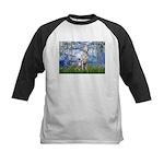 Lilies / Dalmatian #1 Kids Baseball Jersey