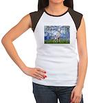 Lilies / Dalmatian #1 Women's Cap Sleeve T-Shirt