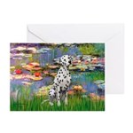 Lilies/ Dalmatian #1 Greeting Cards (Pk of 20)