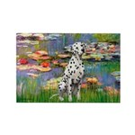 Lilies/ Dalmatian #1 Rectangle Magnet (10 pack)
