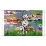 Lilies/ Dalmatian #1 Sticker (Rectangle)