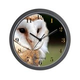 Barn owl Wall Clocks