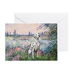 Seine / Dalmatian #1 Greeting Card