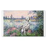 Seine / Dalmatian #1 Sticker (Rectangle)