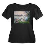 Seine / Dalmatian #1 Women's Plus Size Scoop Neck