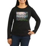 Seine / Dalmatian #1 Women's Long Sleeve Dark T-Sh