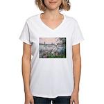 Seine / Dalmatian #1 Women's V-Neck T-Shirt