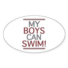 My Boys Can Swim (Dad 2 be) Oval Decal
