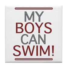 My Boys Can Swim (Dad 2 be) Tile Coaster