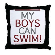 My Boys Can Swim (Dad 2 be) Throw Pillow