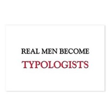 Real Men Become Typologists Postcards (Package of