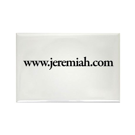 www.Jeremiah.com Rectangle Magnet