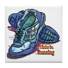 I'd Rather Be Running Tile Coaster