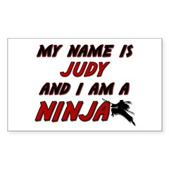my name is judy and i am a ninja Decal