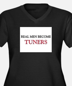 Real Men Become Tuners Women's Plus Size V-Neck Da