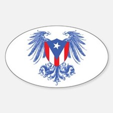 Puerto Rico Wings Oval Decal