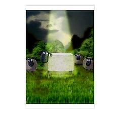 Strange Alien Sheep Experimen Postcards (Package o