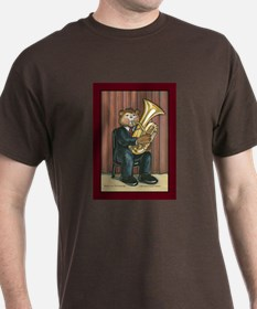 Male Tuba Player T-Shirt