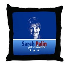 Palin for America Throw Pillow
