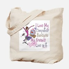 Online Friends Tote Bag