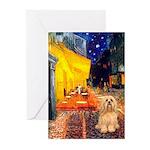 Cafe / Lhasa Apso #9 Greeting Cards (Pk of 20)