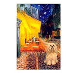Cafe / Lhasa Apso #9 Postcards (Package of 8)