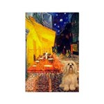 Cafe / Lhasa Apso #9 Rectangle Magnet