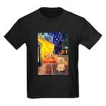 Cafe / Lhasa Apso #9 Kids Dark T-Shirt