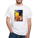 Cafe / Lhasa Apso #9 White T-Shirt
