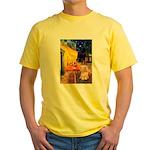Cafe / Lhasa Apso #9 Yellow T-Shirt