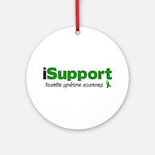 iSupport Tourette Ornament (Round)