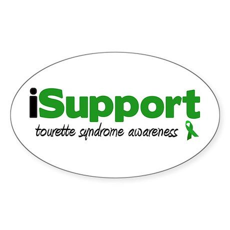 iSupport Tourette Oval Sticker