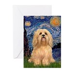 Starry / Lhasa Apso #9 Greeting Cards (Pk of 10)
