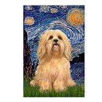 Starry / Lhasa Apso #9 Postcards (Package of 8)