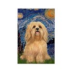 Starry / Lhasa Apso #9 Rectangle Magnet (10 pack)