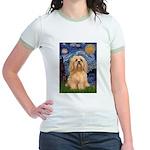 Starry / Lhasa Apso #9 Jr. Ringer T-Shirt