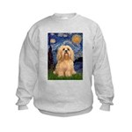 Starry / Lhasa Apso #9 Kids Sweatshirt