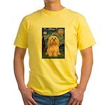 Starry / Lhasa Apso #9 Yellow T-Shirt