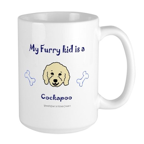 cockapoo gifts Large Mug