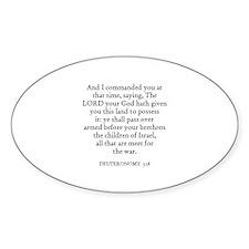 DEUTERONOMY 3:18 Oval Decal