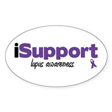 iSupport Lupus Oval Sticker (10 pk)