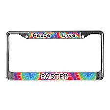 Peace Love Easter License Plate Frame