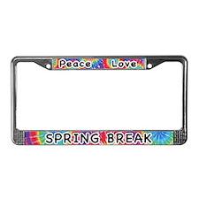 Peace Love Spring Break License Plate Frame