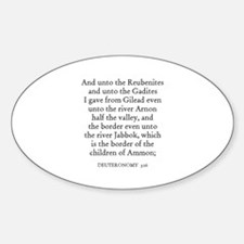 DEUTERONOMY 3:16 Oval Decal