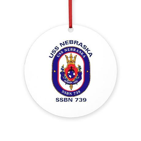 USS Nebraska SSBN 739 Ornament (Round)